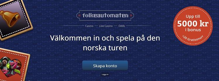 Folkeautomaten free spins och bonus till nya spelare