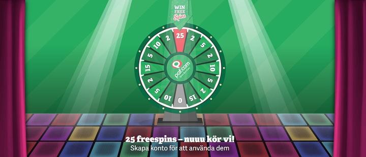 Paf casino med free spins utan insättning 2019
