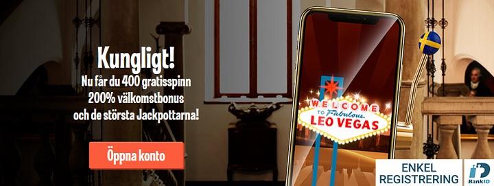 Passa på att ta LeoVegas casinobonus innan 2019