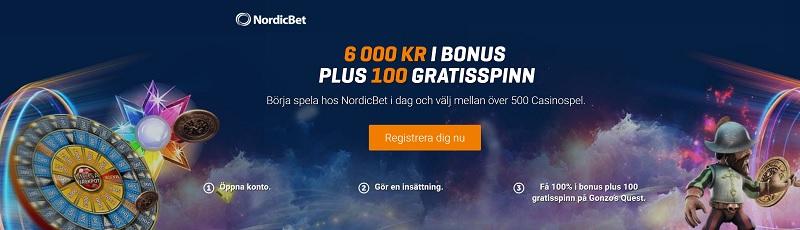 Helt ny Nordicbet casinobonus 2018